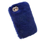 Für iPhone X iPhone 8 iPhone 7 iPhone 7 Plus iPhone 6 Hüllen Cover Strass Rückseitenabdeckung Hülle Volltonfarbe Weich Textil für Apple