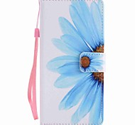For Sony Xperia XA Ultra X Performance Case Cover Sunflower Painted Lanyard PU Phone Case