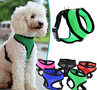 cheap -Dog Harness Adjustable / Retractable Breathable Solid Nylon Mesh Purple Rose Red Green Blue