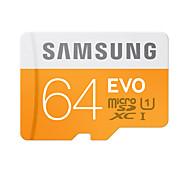 Недорогие -SAMSUNG 64 Гб Карточка TF Micro SD карты карта памяти UHS-I U1 Class10 EVO