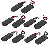 10PCS Button Cell CR2032 LIR 203 Two-Section With Cover Tape With Red And Black Battery Compartment Flat