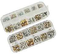 1200pcs mixs modèle rivet Décorations Nail Art