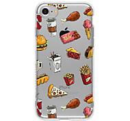 Недорогие -Кейс для Назначение Apple Кейс для iPhone 5 iPhone 6 iPhone 7 Ультратонкий Прозрачный С узором Кейс на заднюю панель Продукты питания