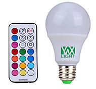 baratos -YWXLIGHT® 500 lm E26/E27 Lâmpada Redonda LED 12 leds SMD Regulável Decorativa Controle Remoto Branco Natural RGB AC85-265 AC 85-265V