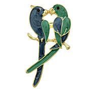 Недорогие -любители птиц моды эмали большие броши для женщин