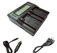 ismartdigi VF823 815 LCD Dual зарядное устройство с зарядки в автомобиле кабель для Jvc VF823 U 815 U камеры Аккумуляторы