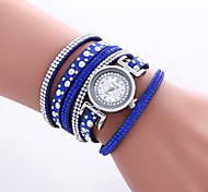 cheap -Women's Quartz Wrist Watch Bracelet Watch Colorful PU Band Heart shape Vintage Casual Bohemian Fashion Cool Bangle Black White Blue Red
