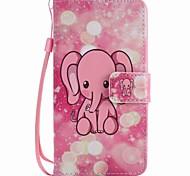 Для lg k10 k7 чехол для корпуса розовый слон окрашенный шнур pu телефон чехол для nexus 5x lss775 xpower