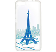 For Wiko Lenny 3 Sunset 2 Case Cover Eiffel Tower Pattern Back Cover Soft TPU Lenny 3 Sunset 2