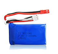 2pcs/pack 7.4v 1100mAh Lipo JST WLtoys Battery for A949 A959 A969 A979 k929Original High-speed Car Batteries