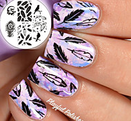 cheap -BORN PRETTY Nail Art Stamping Template Plates BP75 Birds Dragon Feather Design