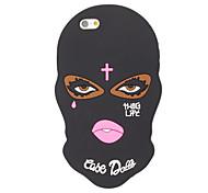3D Black Face Silicone Case for iPhone 7 7 Plus 6s 6 Plus SE 5s 5