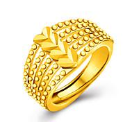 abordables -Mujer Anillos de Diseño Personalizado Lujo Amor Oro 18K de oro Corazón Joyas Boda Fiesta Regalo Diario Enamorado