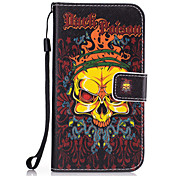 For Samsung Galaxy S7 Edge S7 S6 Edge S6 S5 S4 S3 Skull Pattern PU Leather Full Body Case with Stand and Card Slot