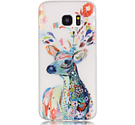 cheap -Case For Samsung Galaxy Samsung Galaxy S7 Edge Glow in the Dark Pattern Back Cover Animal Soft TPU for S8 Plus S8 S7 edge S7 S6 edge plus