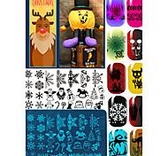 Недорогие -лак для ногтей скребок искусства Рождество Санта-Клаус лосей штамповка изображения пластины маникюрный набор инструмент трафарета