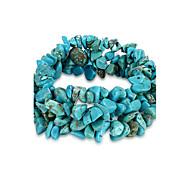 Women's Chain Bracelet Unique Design Fashion Birthstones Costume Jewelry Crystal Turquoise Irregular Jewelry Jewelry For Birthday Gift