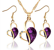 cheap -Women's Crystal Synthetic Diamond Party Daily 1 Necklace 1 Pair of Earrings Costume Jewelry