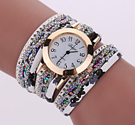 cheap -Women's Quartz Wrist Watch Bracelet Watch Colorful Alloy Band Charm Sparkle Vintage Casual Bohemian Fashion Cool Bangle Black White Blue