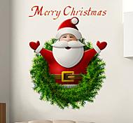 Рождество Наклейки Простые наклейки 3D наклейки Декоративные наклейки на стены материал Съемная Украшение дома Наклейка на стену