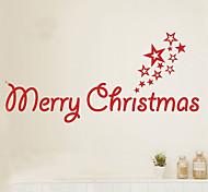 Рождество Наклейки Простые наклейки Декоративные наклейки на стены материал Съемная Украшение дома Наклейка на стену