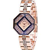 Xu™ Mulheres Relógio de Moda Relógios Femininos com Cristais Relógio de Pulso Quartzo Lega Banda Vintage Casual Dourada