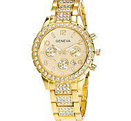 Xu™ Women's Wrist watch Fashion Watch Quartz Calendar Stainless Steel Band Vintage Casual Silver Gold Rose Gold