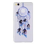 For Huawei Y635 4C 4X 5C 5X P8 P9 P8Lite P9Lite Honor8 Honor7 Honor6 Case Cover Blue Dreamcatcher Pattern TPU Material Phone Case