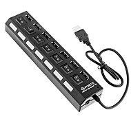 cheap -7 Ports High Speed USB Hub On/Off Switch Hub USB Splitter For PC Laptop Computer