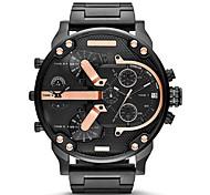 Homens Relógio Militar Relógio de Moda Quartzo Calendário Aço Inoxidável Banda Luxuoso Dourada