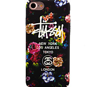 cheap -Case For Apple iPhone 8 iPhone 8 Plus iPhone 6 iPhone 7 Plus iPhone 7 Glow in the Dark Pattern Back Cover Flower Hard PC for iPhone 8