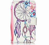 cheap -Flowers Wind Chimes Painting PU Phone Case for apple iTouch 5 6