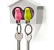 Key Chain Bird Lovely Whistle Rainbow ABS