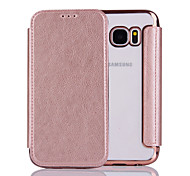 cheap -For Samsung  Galaxy S6 S6Edge S7 S7Edge Case Cover  Pure Color Elegant Elegant Electroplating TPU Shell After Striae Cell Phone Sets