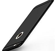 Pour iPhone X iPhone 8 iPhone 7 iPhone 7 Plus iPhone 6 Etuis coque Dépoli Coque Arrière Coque Couleur unie Flexible Silicone pour Apple
