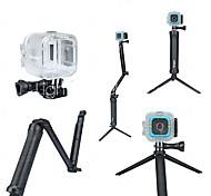 abordables -3-Way Pivot réglable Bras Coque Etanche Coque Monopied Trépied Pour Caméra d'action Polaroid Cube Universel Chasse et Pêche La navigation