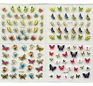 24 Стикер искусства ногтя 3D наклейки на ногти макияж Косметические Nail Art Design