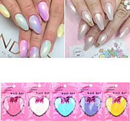New Mermaid Effect Chrome Pigment Powder 10g / bag Laser Silver White Nail Art Miorror Powder Mermaid Decorations