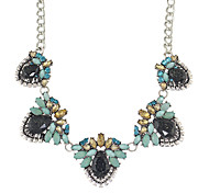 New Shourouk Style Colorful Rhinestone Flower Collar Necklaces