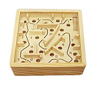 Stress Relievers Building Blocks Balls Maze & Sequential Puzzles Maze Toys Square Wood 1 Pieces Boys' Girls' Gift