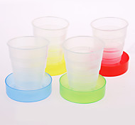 cheap -Creative Candy Colors Travel Portable Folding Cup Telescopic Cup Plastic Cups Creative Home