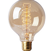 cheap -Ecolight™ 1pc 40W E27 E26/E27 G80 Warm White 2300 K Incandescent Vintage Edison Light Bulb AC 220-240V V