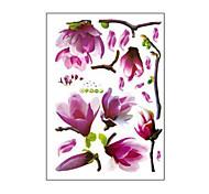 Недорогие -природные романтические mangnolia пвх наклейки для стен художественные наклейки