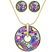 Недорогие -Жен. Мода Для вечеринок Повседневные Серьги Ожерелья Бижутерия