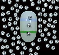 Недорогие -100шт 2 мм круглый серебряный металлические заклепки винты с верхней линии зерна украшения ногтей искусство