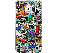 For Case Cover Glow in the Dark IMD Pattern Back Cover Case Cartoon Soft TPU for Samsung Galaxy S7 edge S7 S6 edge S6 S5