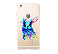 cheap -For IPhone 7 7Plus Transparent Pattern Case Back Cover Case Watercolor Owl Soft TPU for iPhone 6s 6 Plus iPhone 6s 6 iPhone 5s 5 5E 5C