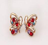 cheap -Women's AAA Cubic Zirconia Rhinestone Zircon Cubic Zirconia Hoop Earrings - Simple Style Butterfly Animal For Party Daily Casual
