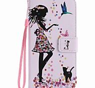 Para la cubierta del caso del pixel del pixel xl de Google la mujer y el gato pintaron la caja del teléfono de la PU