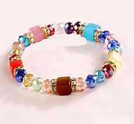 Women's Strand Bracelet Crystal Crystal Rhinestone Opal Simulated Diamond Friendship Fashion Bohemian Punk Personalized Hip-HopPurple